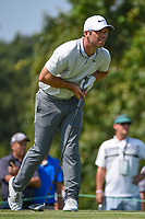 Paul Casey (GBR) watches his tee shot on 9 during round 3 of the WGC FedEx St. Jude Invitational, TPC Southwind, Memphis, Tennessee, USA. 7/27/2019.<br /> Picture Ken Murray / Golffile.ie<br /> <br /> All photo usage must carry mandatory copyright credit (© Golffile | Ken Murray)