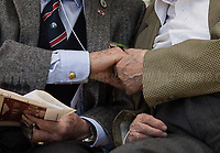 Antifascist Partizans. Members of the Partigiani: the Italian Resistance during WWII.<br /> <br /> Rome, 25/04/2018. Today, to mark the 73rd Anniversary of the Italian Liberation from nazi-fascism ('Liberazione'), ANED Roma & ANPI Roma (National Association of Italian Partizans) held a march ('Corteo') from Garbatella to Piazzale Ostiense where a rally took place attended by Partizans, Veterans and politicians – including the Mayor of Rome and the President of Lazio's Region. From the organisers Facebook page:<<For the 25th of April, the 73rd Anniversary of the Liberation of Italy from nazi-fascism, while facing new threats to the world peace, it is necessary to remember that the Fight for Liberation triggered the greatest, positive, 'break' of the whole modern age of the Italian history. The Fight for the Liberation was supported by a great solidarity of the people. The memory of those who in the partizan struggle, in the camps of imprisonment, internment or extermination, opposed - even until the sacrifice of life - the dictatorship, the greed of territorial conquests, crazy ideologies of race supremacy, constitutes concrete warning against any attempt to undermine the foundations of the free institutions born of the Resistance. Memory is not an instrument of hatred or revenge, but of unity in a spirit of harmony without discriminations...<br /> (For the full caption please read the PDF attached at the the beginning of this story).<br /> <br /> For more info please click here: https://bit.ly/2vOIfNf & https://bit.ly/2r4iJy3 & http://www.anpi.it<br /> <br /> For the Wikipedia's page of the 'Liberazione' please click here: https://en.wikipedia.org/wiki/Liberation_Day_(Italy)<br /> <br /> For a Video of the event by Radio Radicale please click here: https://www.radioradicale.it/scheda/539534/manifestazione-promossa-dallanpi-in-occasione-della-73a-festa-della-liberazione