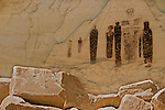 The Holy Ghost. This figure is the most well known of Barrier Style Rock Art. <br /> Canyonlands National Park, Utah.