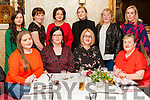 Catriona Stack Templeglantine & Mag O' Sullivan Knocknagoshel(seated centre) celebrated joint 40th. Birthdays last Saturday night in Leen's Hotel with family & friends. Seated : Sarah Delaney, Catriona & Mag, Rose Delaney. Back: Meibh Diggin, Rachael Stack, Breda Diggin, Ciara Diggin, Susan Keane, Josie O' Connor.