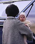 PRINCE HARRY_30 years on<br /> Prince Harry carried by Nanny Barnes at Dyce airport, Aberdeen March 1985<br /> Prince Harry celebrates his 30th birthday on the 15th of September 2014<br /> Mandatory Photo Credit: &copy;Dias/NEWSPIX INTERNATIONAL<br /> <br /> Mandatory credit photo:NEWSPIX INTERNATIONAL(Failure to credit will incur a surcharge of 100% of reproduction fees)<br /> <br /> **ALL FEES PAYABLE TO: &quot;NEWSPIX INTERNATIONAL&quot;**<br /> <br /> Newspix International, 31 Chinnery Hill, Bishop's Stortford, ENGLAND CM23 3PS<br /> Tel:+441279 324672<br /> Fax: +441279656877<br /> Mobile:  07775681153<br /> e-mail: info@newspixinternational.co.uk