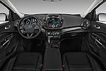 Stock photo of straight dashboard view of 2017 Ford Escape Titanium 5 Door Suv Dashboard