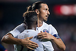 Zlatan Ibrahimovic of Paris Saint-Germain celebrates during Kitchee SC vs Paris Saint-Germain during the The Meeting of Champions on July 29, 2014 at the Hong Kong stadium in Hong Kong, China.  Photo by Aitor Alcalde / Power Sport Images