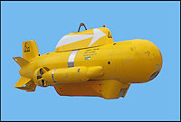BNPS.co.uk (01202 558833)<br /> Pic: SummersAuctions/BNPS<br /> <br /> ****Please use full byline****<br /> <br /> A chance to own your very own Yellow Submarine.....<br /> <br /> This remote controlled submarine is sure to blow other model boat users out of the water.<br /> <br /> The miniature craft is a former mine hunter and destruction sub used by navies around the world to travel ahead of a warship and blow itself up in the event of finding an explosive in the water.<br /> <br /> This example was decommissioned by the Royal Navy and made safe several years ago before it was bought by a private individual.