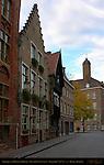 Baroque and Medieval Houses on Genthof, Bruges, Brugge, Belgium