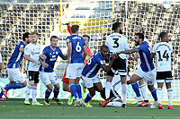 30th July 2020; Craven Cottage, London, England; English Championship Football Playoff Semi Final Second Leg, Fulham versus Cardiff City; Curtis Nelson of Cardiff City celebrates after he scores for 0-1 in the 8th minute