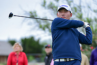 Sung Kang (USA) watches his tee shot on 4 during round 3 of the Valero Texas Open, AT&amp;T Oaks Course, TPC San Antonio, San Antonio, Texas, USA. 4/22/2017.<br /> Picture: Golffile | Ken Murray<br /> <br /> <br /> All photo usage must carry mandatory copyright credit (&copy; Golffile | Ken Murray)