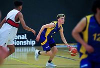 Action from the 2019 Schick AA Boys' Secondary Schools Basketball Premiership National Championship match between Scots College and Rongotai College at the Central Energy Trust Arena in Palmerston North, New Zealand on Monday, 30 September 2019. Photo: Dave Lintott / lintottphoto.co.nz