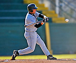 15 April 2008: Dartmouth College Big Green second baseman Johnathon Santopadre, a Junior from Vacaville, CA, in action against the University of Vermont Catamounts at Historic Centennial Field in Burlington, Vermont. The Catamounts rallied from a 7-3 deficit to win 8-7 over Dartmouth in a non-conference NCAA game...Mandatory Photo Credit: Ed Wolfstein Photo