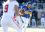 BROOKINGS, SD - NOVEMBER 17: Blake Kunz #88 from South Dakota State University hauls in a catch and races to the end zone for a touchdown against the University of South Dakota during their game Saturday afternoon at Dana J. Dykhouse Stadium in Brookings, SD. (Photo by Dave Eggen/Inertia)