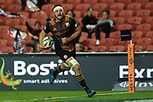 June 3rd 2017, FMG Stadium, Waikato, Hamilton, New Zealand; Super Rugby; Chiefs versus Waratahs;  Chiefs flanker Mitchell Brown runs in a try during the Super Rugby rugby match