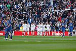 Real Madrid´s players celebrate a goal during La Liga match at Santiago Bernabeu stadium in Madrid, Spain. December 05, 2015. (ALTERPHOTOS/Victor Blanco)