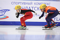 "SHORT TRACK: MOSCOW: Speed Skating Centre ""Krylatskoe"", 14-03-2015, ISU World Short Track Speed Skating Championships 2015, Tianyu HAN (#113 