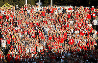 Ohio State Buckeyes fans do the O-H-I-O in the 3rd quarter against California Golden Bears at Memorial Stadium in Berkeley, California on September 14, 2013.  (Dispatch photo by Kyle Robertson)