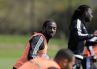 Marvin Emnes during the Swansea City FC training at Fairwood, Swansea, Wales, UK on Wednesday 04 May 2016