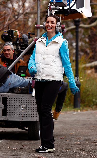 WWW.ACEPIXS.COM . . . . .  ....November 29 2007, New York City....Actress Kristin Davis shot a scene for the new 'Sex and the City' movie in Central Park in Manhattan....Please byline: AJ Sokalner - ACEPIXS.COM..... *** ***..Ace Pictures, Inc:  ..te: (646) 769 0430..e-mail: info@acepixs.com..web: http://www.acepixs.com