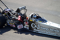 Sept. 29, 2012; Madison, IL, USA: NHRA top fuel dragster driver Bob Vandergriff Jr during qualifying for the Midwest Nationals at Gateway Motorsports Park. Mandatory Credit: Mark J. Rebilas-