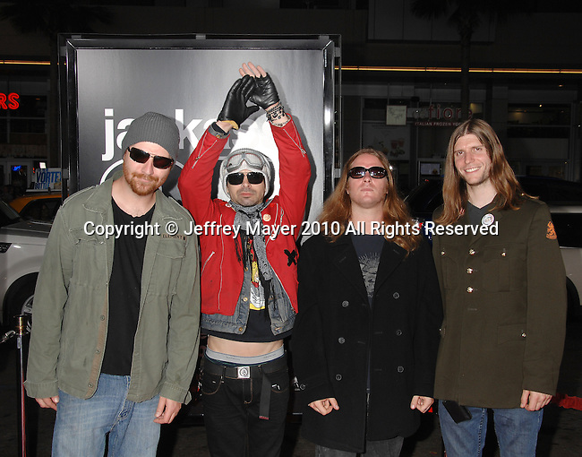 """HOLLYWOOD, CA. - October 13: CKY arrives at the """"Jackass 3D"""" Los Angeles Premiere at the Grauman's Chinese Theater on October 13, 2010 in Hollywood, California."""