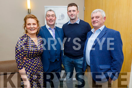 Maureen and Paddy Weir, Aidan Behan and Colin Brown attending the Kerry and Clanmaurice Camogie Awards Night in the Ballyroe Heights Hotel on Sunday