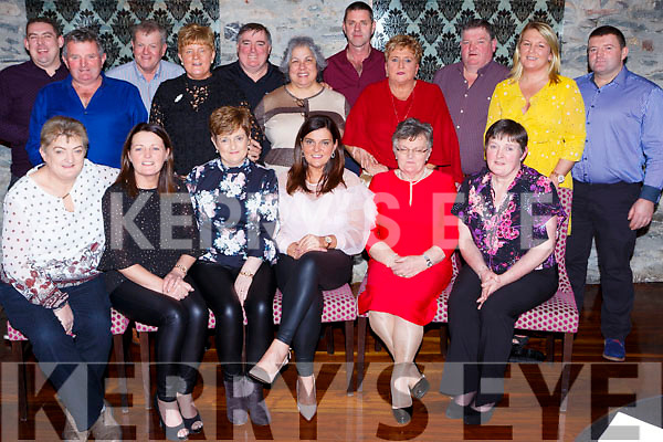 The Brennan family from Portmagee who held a reunion in the Ross Hotel Killarney on Friday night front row l-r: Kathleen O'Sullivan, Angela Brennan, eileen Lyons, Ann Brennan, Berdie Courtney,Mary O'Connell. Back row:  Mike Walsh, Mossy Brennan, Vincent Connell, Noreen Brennan, Frances and Brenda  Brennan, Niall Lyons, Bridget, Joe, Paula and Mike Brennan