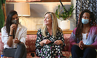 PACIFIC PALISADES, CA -June 28: Gabriella Wright, Elisabeth Rohm, Rebecca Watson, at Elisabeth Rohm ihosts a RESPECT TALK on How To Cultivate More Bliss in Today's World at Veronica Beard in Pacific Palisades California on June 28, 2020. Credit: Faye Sadou/MediaPunch