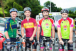 David O'connor, Denis O'Connor, Mike Mckenna and Richard O'Brien Mid Kerrry cyclists at the Ring of the Reeks cycle in Beaufort on Saturday