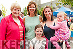 Family Fun Day: Attending the family fun day in the Square, Listowel on Sunday afternoon last were Mary Somers, Marie & Grace Collins & Helena & Kitty Bradley.