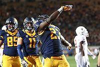 BERKELEY, CA - September 17, 2016: The Cal Bears Football team vs the University of Texas Longhorns at Cal Memorial Stadium in Berkeley California. Final score: Cal Bears 50, Texas Longhorns 43