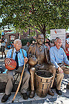 Stuart Naismith, left and James Naismith, right, grandsons of James Naismith, centre,1861-1939, inventor of game of basketball