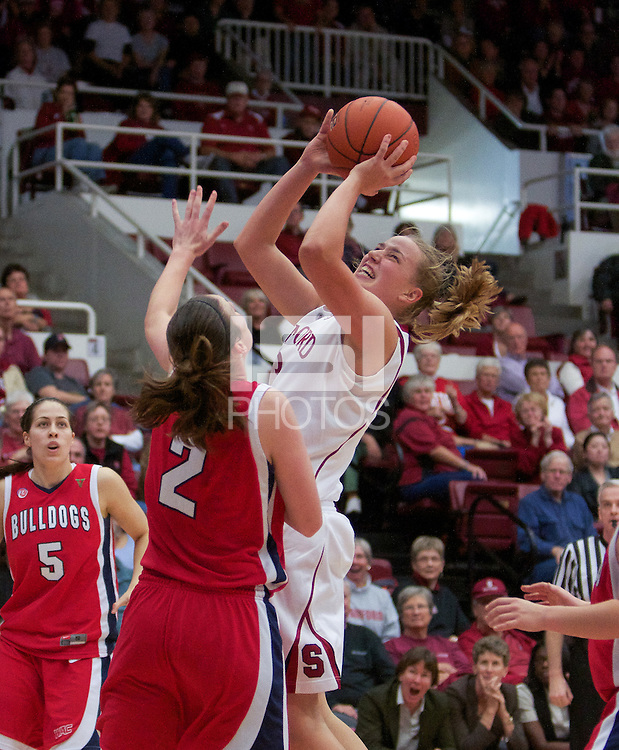 STANFORD, CA:  Mikaela Ruef during Stanford's 77-40 victory over Fresno State at Stanford, California on December 12, 2010.