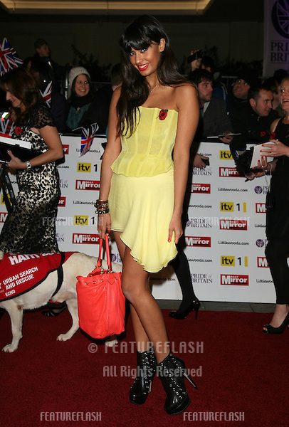 Jameela Jamil arriving for the 2010 Pride Of Britain Awards, at the Grosvenor House Hotel, London. 08/11/2010  Picture by: Alexandra Glen / Featureflash