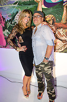 Ana Quincoces and Artist Leonardo Hidalgo attend Real Housewives of Miami Season 3 VIP Premiere Party, at Lou La Vie, Miami, FL, on August 6, 2013