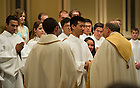 Apr. 19, 2014; Easter Vigil Mass with Rev. Peter D. Rocca, C.S.C. Photo by Barbara Johnston/University of Notre Dame