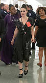 Actress Alyssa Milano walks in the hallway during a break in the testimony of Dr. Christine Blasey Ford  before the US Senate Committee on the Judiciary on the nomination of Judge Brett Kavanaugh to be Associate Justice of the US Supreme Court to replace the retiring Justice Anthony Kennedy on Capitol Hill in Washington, DC on Thursday, September 27, 2018.   <br /> Credit: Ron Sachs / CNP<br /> (RESTRICTION: NO New York or New Jersey Newspapers or newspapers within a 75 mile radius of New York City)