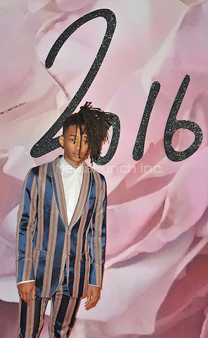 Jaden Smith at the Fashion Awards 2016, Royal Albert Hall, Kensington Gore, London, England, UK, on Monday 05 December 2016. <br /> CAP/CAN<br /> &copy;CAN/Capital Pictures /MediaPunch ***NORTH AND SOUTH AMERICAS ONLY***