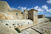 Citadel in Victoria (also known as Rabat) on the maltese Island of Gozo with Cathedral in the background