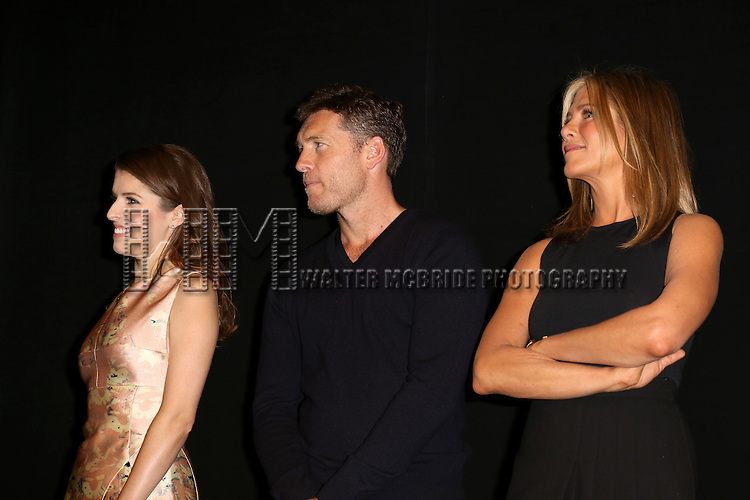 Anna Kendrick, Sam Worthington and Jennifer Aniston attends the Presentation for 'Cake' at the Elgin Theatre during the 2014 Toronto International Film Festival on September 8, 2014 in Toronto, Canada.