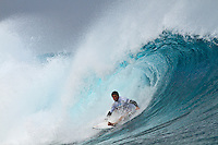"Adriano de Souza (BRA) TEAHUPOO, Taiarapu/Tahiti (Friday, September 3, 2010) - Andy Irons (HAW), 32, past three-time ASP World Champion, has won the Billabong Pro Tahiti, besting C.J. Hobgood (USA), 31, in an explosive Final clash in three-to-four foot (1.5 metre) waves at Teahupoo..The fifth stop on the 2010 ASP World Tour, the Billabong Pro Tahiti culminated in climactic fashion today, on the final day of the waiting period..The emphatic victory marks Irons' 20th at the elite level of competition, and the Hawaiian was emotional when regarding his first win in over three years (won Rip Curl Pro Search Chile 2007)..""I did it!"" Irons exclaimed. ""I surf because I have to put my jersey on some time. I took a lot of losses, but I put in the hard work too. I dedicate this win 100% to my wife, Lindy, she is everything to me and without her, I'd be nothing. I really, really like competing because I love to win and I feel on top of the world today. I surf because I love to win. I love this feeling."".Slater has moved back into the #1 spot on the ASP ratings and is in the hunt for a tenth world title...  Photo: joliphotos.com"