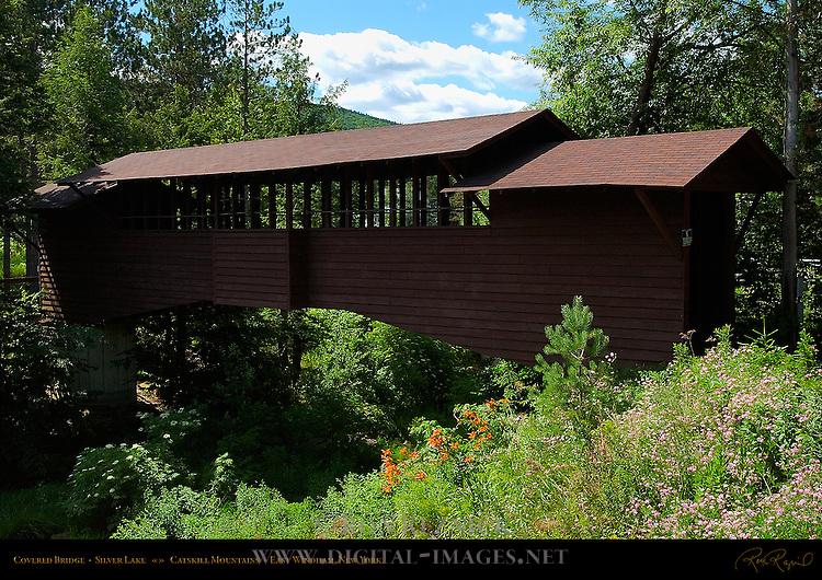 Covered Bridge, Silver Lake, Catskill Mountains, East Windham, New York