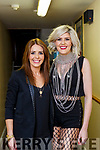 Jenny Greene and singer Gemma Sugrue Killarney backstage before their concert with the RTE Orchestra in the INEC on Saturday night