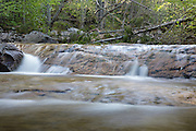 Cascade along the South Branch of Hancock Brook in Lincoln, New Hampshire USA. This river is located near the Kancamagus Highway (route 112) which is one of New England's scenic byways.