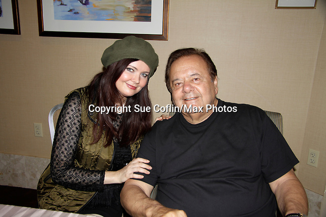 Dee Dee Benkie poses with her husband actor Paul Sorvino - Actors appear at 25th Anniversary of Chiller Theatre on October 25, 2015 at Sheraton Hotel, Parsippany, NJ. (Photo by Sue Coflin/Max Photos)