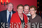 NEW YEARS: Celebrating New Year's Eve in the Devon Inn, Templeglantine, were Moss, Mary and Jim Quinlivan, Newcastlewest with Betty Kerin, Castleisland.   Copyright Kerry's Eye 2008