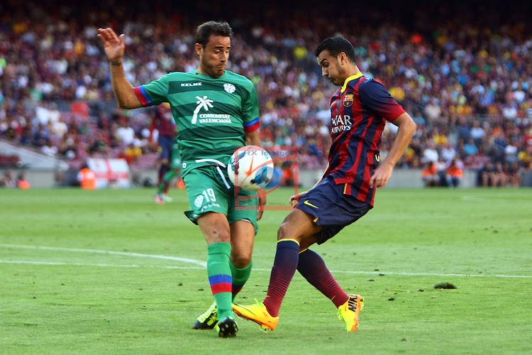 League BBVA 2013/2014 - Game: 01.<br /> 2013-08-18: FC Barcelona vs Levante UD: 7-0.