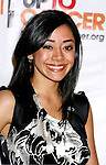 Actress Aimee Garcia arrives at the launch of Camila Alves' Handbag Collection MUXO at Kitson Studio on August 7, 2008 in Los Angeles, California.