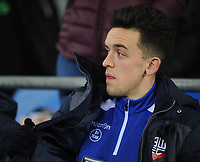 Bolton Wanderers' Zach Clough<br /> <br /> Photographer Kevin Barnes/CameraSport<br /> <br /> The EFL Sky Bet Championship - Cardiff City v Bolton Wanderers - Tuesday 13th February 2018 - Cardiff City Stadium - Cardiff<br /> <br /> World Copyright &copy; 2018 CameraSport. All rights reserved. 43 Linden Ave. Countesthorpe. Leicester. England. LE8 5PG - Tel: +44 (0) 116 277 4147 - admin@camerasport.com - www.camerasport.com