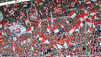 FUSSBALL 1. BUNDESLIGA   SAISON   2012/2013: RELEGATION   RUECKSPIEL 1. FC Kaiserslautern TSG 1899 Hoffenheim          27.05.2013 FCK Fan Tribuene