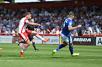 v during Stevenage vs Tranmere Rovers, Sky Bet EFL League 2 Football at the Lamex Stadium on 4th August 2018