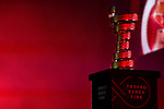 The Trofeo Senza Fine on stage at the Team Presentation before the 101st edition of the Giro d'Italia 2018. Jerusalem, Israel. 3rd May 2018.<br /> Picture: LaPresse/Fabio Ferrari | Cyclefile<br /> <br /> <br /> All photos usage must carry mandatory copyright credit (&copy; Cyclefile | LaPresse/Fabio Ferrari)