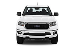 Car photography straight front view of a 2019 Ford Ranger XLT 4 Door Pick Up